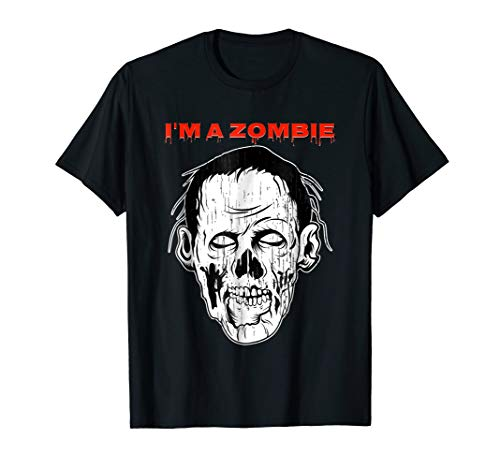 I'm Zombie Nerd Tshirt For Halloween Scary White Face
