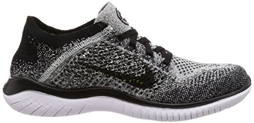 Nike Free RN Flyknit 2018 Women's Running Shoe (5.5 B US, Black/White) by Nike (Image #6)