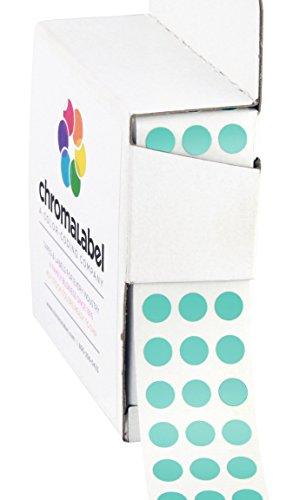 Aqua Stickers - 1/4 inch Color-Code Dot Labels | 1,000/Dispenser Box (Aqua)