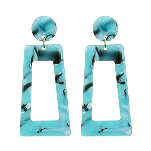(Earrings for Girls,Mebamook Personality Creative Acetate Plate Geometry Long Square Earrings Ladies Jewelry)