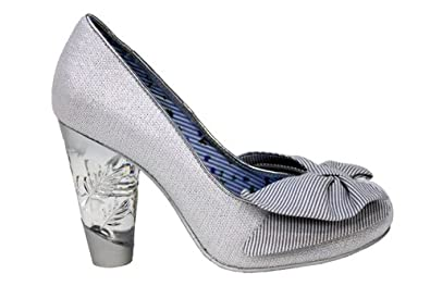 f835b781034 Irregular Choice No Place Like home Womens Silver High Heel Shoes ...