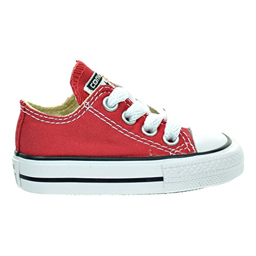 Converse Unisex Shoes Chuck Taylor All Star OX Red Sneakers (4 M US Infant) (Converse Chucks Red)