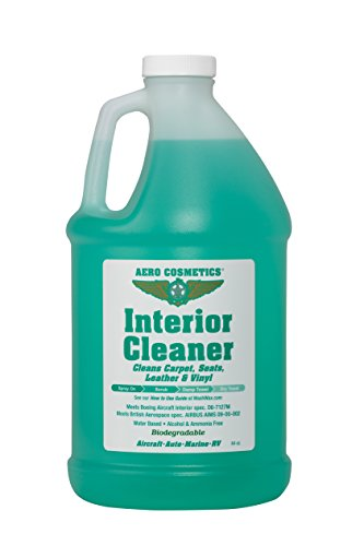 Interior Cleaner, Carpet Cleaner, Seat Cleaner, Fabric Cleaner, Cleans Carpets, Seats, Leather, and Vinyl, Aircraft Quality for your Car Boat RV and Motorcycle Meets Boeing and Airbus Specs. - Aero Leather