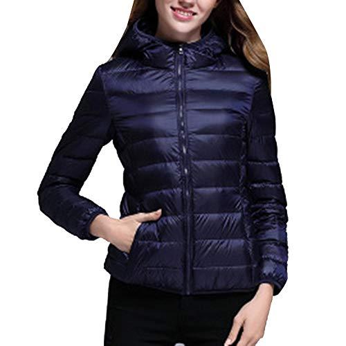 LaoZanA Hooded Jacket Lightweight Packable Coats Women's Down Navy rqCvr
