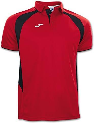 Joma - Polo Champion III Rojo-Negro m/c para Hombre: Amazon.es ...