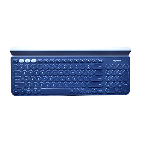 Leze - Ultra Thin Silicone Laptop Keyboard Cover Skin Protector for Logitech K780 Multi-Device Wireless Keyboard - Clear