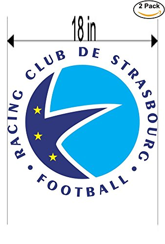fan products of Strasbourg France Soccer Football Club FC 2 Stickers Car Bumper Window Sticker Decal Huge 18 inches