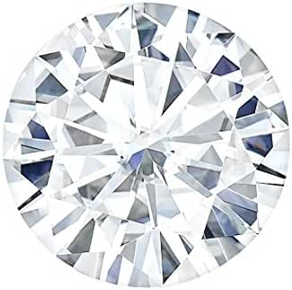 10.0 MM Round Brilliant Cut Forever One® Moissanite by Charles & Colvard 57 Facets - Very Good Cut (3.08ct Actual Weight, 3.60ct Diamond Equivalent Weight)