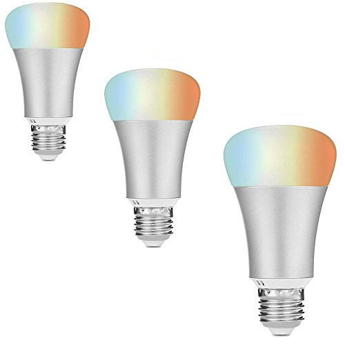 Price comparison product image Thuepak WiFi Smart LED Light Bulb, Work with Alexa Echo/Dot/Tap,Changing Color,Remote Control Anywhere (Silvery(3pack))