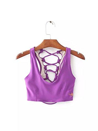 Intima Bra Unica Lady Jarong Grid Viola Biancheria Purple Movement Bandage Antiurto Back Taglia Yoga 8w55ZqFgn