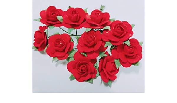 Amazon 100 Pcs Size Mini Red Color Mulberry Paper Flower Of