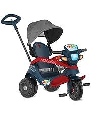 Triciclo Velobaby Reclinavel C/ Capota Passeio & Pedal (Azul), Bandeirante, Azul