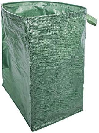 LIOOBO 庭のリーフバッグ芝生とリーフコンテナヤードのゴミ袋屋外ゴミ収納(グリーン)