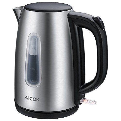 Aicok Electric Kettle Premium 304 Stainless Steel Water Kettle Professional Strix Thermostat Control