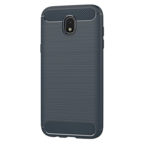 Funda Samsung Galaxy J5 2017, AICEK Negro Silicona Fundas Para Samsung J5 2017 Carcasa Galaxy J5 2017 Fibra de Carbono Funda Case (5,2 Pulgadas SM-J530F) Azul