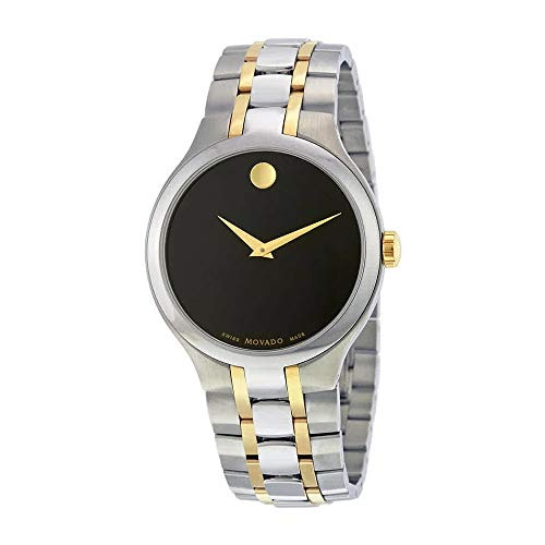 Movado Black Dial Two-Tone Mens Watch 0606958