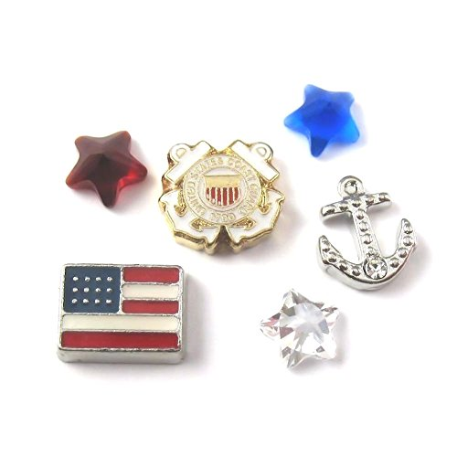 (FCL Designs Coast Guard Theme Floating Charms Combination for Lockets)