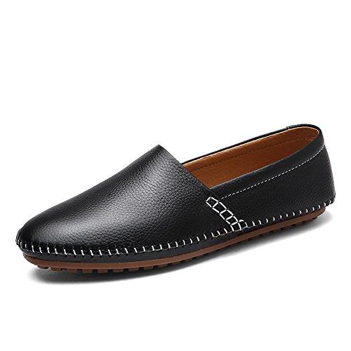 Casual Business Scarpe da Uomo Bean Pigro Scarpe da Rete Traspiranti Scarpe Oxford A Punta Tonda Fondo Morbido Black