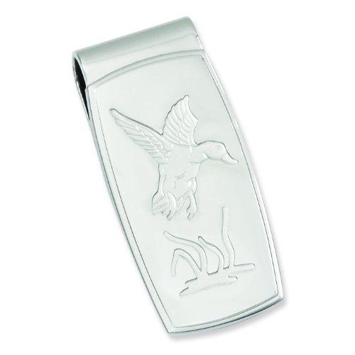Rhodium Plated Duck Money Clip