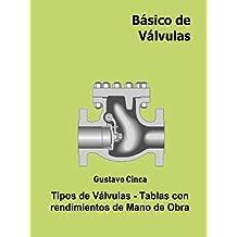Básico de Válvulas:  Tipos de válvulas. Tablas con rendimientos de Mano de Obra (Spanish Edition)