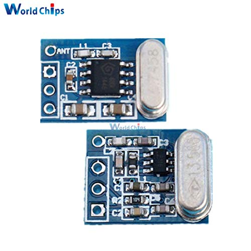 Fevas 1Set 2Pcs 433MHZ Wireless Transmitter Receiver Board Module SYN115 SYN480R Ask/OOK Chip PCB