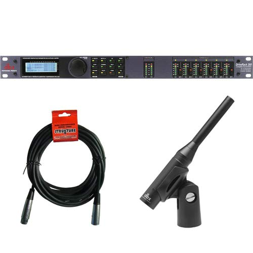 (dbx DriveRack 260 Equalization and Loudspeaker Control System with dbx RTA-M DriveRack Measurement Microphone and XLR Cable)