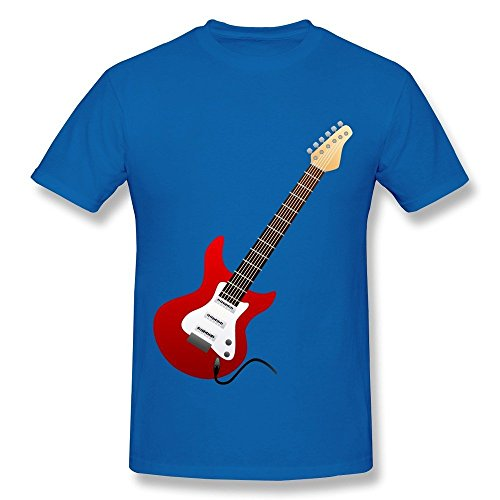 (HD-Print New Design Electric Guitar Red T Shirt For Women RoyalBlue Size)