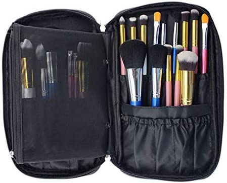 YouNITE ブラッシュアップオーガナイザートラベルトイレタリーバッグ化粧品の収納ケース美容ツールポーチバッグは、最大プロフェッショナルメイクバッグを作る作る1PC (Color : Black)
