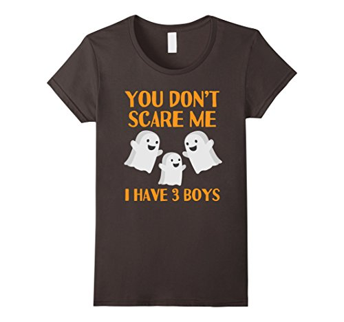 Womens Funny Mom Dad Parents of 3 Boys Sons Halloween Shirt Small Asphalt