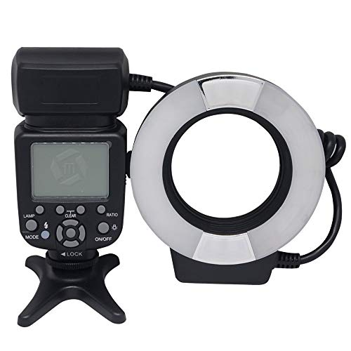 Mcoplus MCO-14EXTC 5500K Macro TTL Ring Flash Lite, Speedlite Light for Canon 760D 750D 550D 650D 450D 700D 600D 60D 70D 50D 40D 7D 6D 5D Mark II III DSLR Cameras E-TTL with LED AF Assist Lamp ()