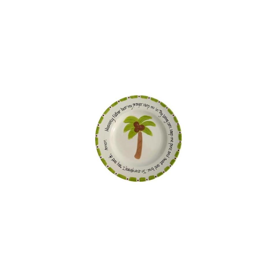 personalized prayer plate   palm tree