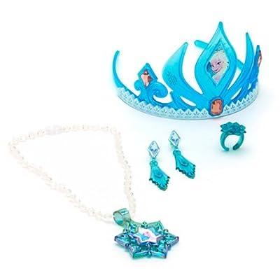 Disney Frozen Elsa Tiara & Jewelry Set