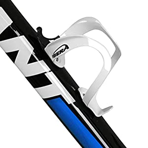 Ibera Bicycle Lightweight Aluminum Water Bottle Cage, White