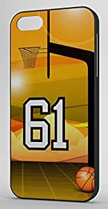 Basketball Sports Fan Player Number 61 Black Rubber Decorative iphone 5c Case