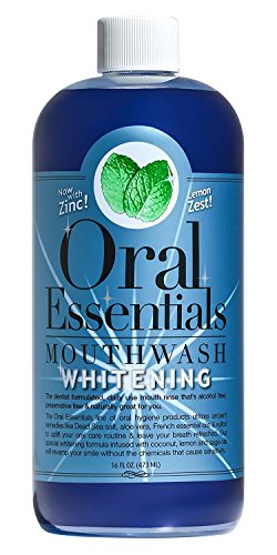 Oral Essentials Whitening Mouthwash 16 Oz No Bleach, Clinically Proven & Whitens without Sensitivity
