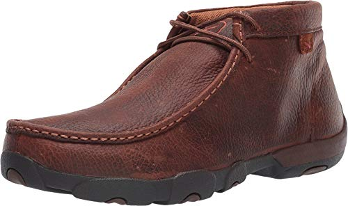 Twisted X Boots Men's Leather Driving Moc,Bomber/Red/White/Blue Leather,US 9 M