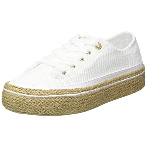 chollos oferta descuentos barato Tommy Hilfiger White Sunset Vulc Sneaker Zapatillas Mujer Blanco 38 EU