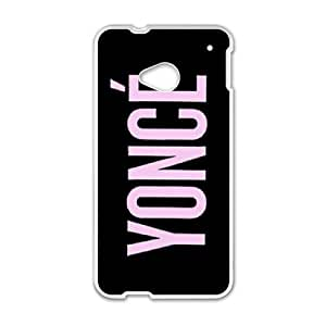 HTC One M7 Cell Phone Case White Beyonce VIU067497