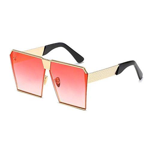 Conducción Hombre Mujer sol de Claro Gafas rosa Mujer o sol oscuro Hombre de Oro Marco UV400 y Metal Vendimia Gafas Pescar Deylaying Cuadrado Gafas TRdZwqZ
