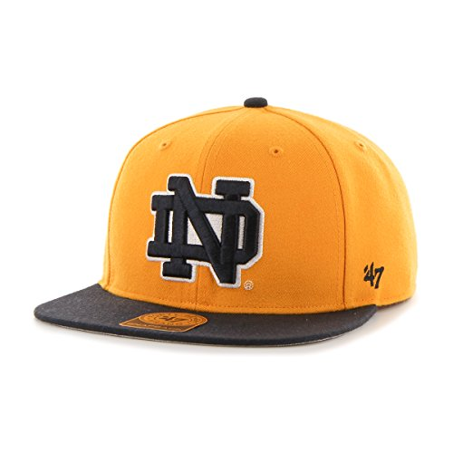 '47 NCAA Notre Dame Fighting Irish Sure Shot Two Tone Captain Hat, One Size, Gold ()