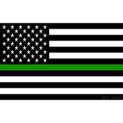 Thin Green Line Support US Flag Army Vinyl Heavy Duty Sticker Decal 4