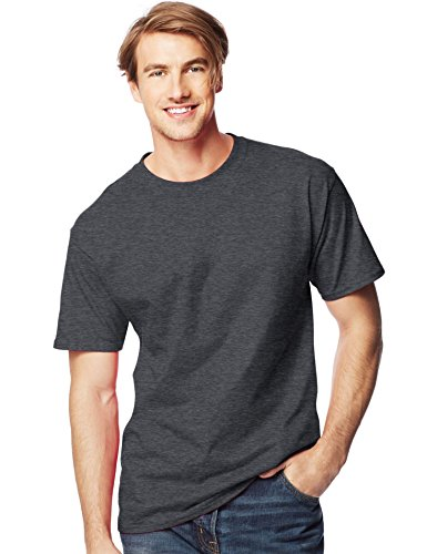 Hanes Beefy-T Men`s Tall T-Shirt - Best-Seller, 518T, XLT, Charcoal Heather