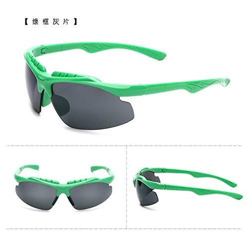 coupe - vent des bicyclettes motocyclettes lunettes de soleil les lunettes de soleil avec des lunettes course sports de plein air des lunettes de soleil les hommes et les femmes tide boîte verte (sac) grey film