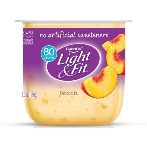 Light and Fit Peach Yogurt, 5.3 Ounce -- 12 per ()