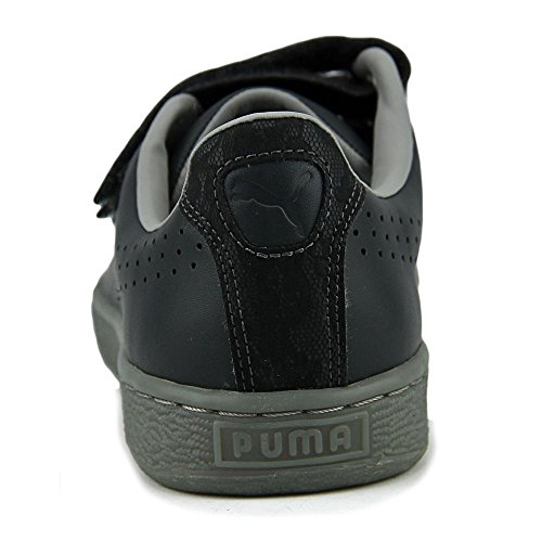 Puma Kvinna Korg Rem Fm Ankel-hög Läder Mode Gymnastiksko Mörk Skugga / Duggregn