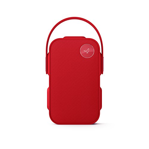 Libratone ONE Click – Splash Proof Bluetooth Speaker – Best Portable Speakers with 12+ Hour Rechargeable Battery Life – 360° Sound – 2 Hanging Accessories – Deep Bass + Touch Control (Cerise Red)