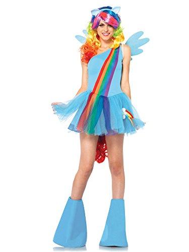 Leg Avenue Women's My Little Pony Friendship Is Magic 6 Piece Rainbow Dash Costume, Blue, (Adult Rainbow Dash)