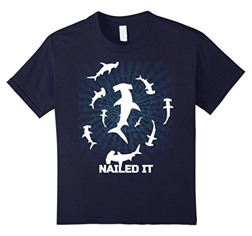 Kids Hammerhead Nailed It Shirt Week of Shark t-shirt Halloween 6 Navy (Hammerhead Shark Halloween Costume)