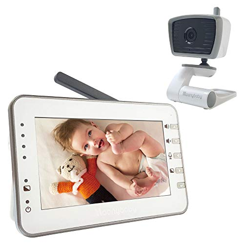 MoonyBaby 4.3 Inches Large LCD Video Baby Monitor with Power Saving/Vox (Voice Activation) Auto Night Vision, Temperature Monitoring, 2-Way Talkback (Manually Rotated Camera)