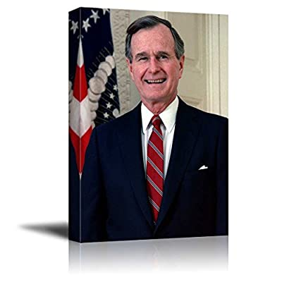 Delightful Artisanship, Quality Artwork, Portrait of George H W Bush (41th President of The United States) American Presidents Series